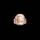 Bague Ronde Vibrations 16 mm, Finition dorée rose image number 1