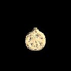 Pendentif Fleurs du Nil Rond 25 mm, Finition dorée image number 1