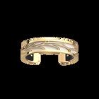 Courbe Bracelet, Gold finish, Black / White image number 2