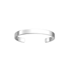 Bracelet Bandeau 14 mm, Finition argentée satinée image number 1