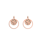 Fougères Double Round 16mm Earrings, Rose Gold finish, Cream / Gold Glitter image number 1