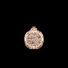 Pendentif Girafe Rond 25 mm, Finition dorée rose image number 1