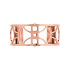 Manchette Arc 25 mm, Finition dorée rose image number 1