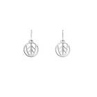 Faucon Sleeper 16 mm Earrings, Silver finish image number 1