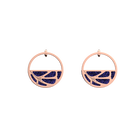 Fleurs du Nil Small Hoop Earrings, Rose gold finish, Lapis Lazuli / Papyrus image number 1