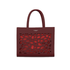 Burgundy Sac à Main Dentelle Bag, Girafe pattern - Metallic Red lining image number 1