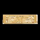 Decorative plaque Nouage 40 mm, Gold finish image number 1
