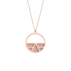 Collier Ibiza, Finition dorée rose , Rose Clair / Gris Clair image number 1