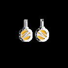 Boucles d'oreilles Dormeuses Vibrations, Finition argentée, Sun / Marine image number 1