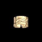 Bague Ruban 12 mm, Finition dorée image number 1