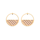 Ruban Hoop Earrings, Gold finish, Light Pink / Light Grey image number 1