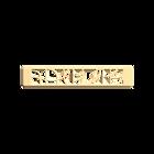 Decorative plaque Volute 25 mm, Gold finish image number 1