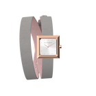 Light Pink / Light Grey Wraparound Watch, Rose Gold finishes image number 4
