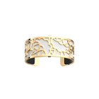 Fleurs de Mariage Bracelet, Gold finish, Black / White image number 2