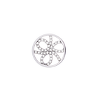 Pétales token Round 16 mm, Silver finish, cubic zirconia image number 1