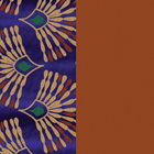 Patterned leather, Peacock / Cognac image