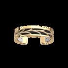 Courbe Bracelet, Gold finish, Black / White image number 1