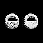 Boucles d'Oreilles Vibrations, Créoles 30 mm, Finition Argentée image number 1