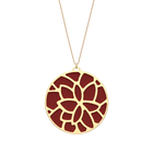 Nénuphar Necklace, Gold finish, Petrol blue / Raspberry image number 2