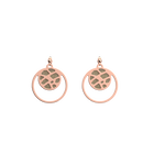 Fougères Double Round 16mm Earrings, Rose Gold finish, Cream / Gold Glitter image number 2