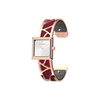 Arabesque Watch, Rose Gold finish, Soft Raspberry / Multicoloured Glitter image