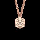 Collier Poisson, Finition dorée rose, Noir / Blanc image number 2