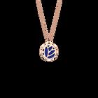 Collier Lotus, Finition dorée rose, Bleu Outremer / Rose Sirène image number 1