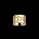 Ruban ring 12 mm, Gold finish image number 1