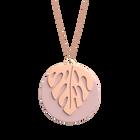 Monstera Necklace, Rose Gold finish - Light Pink / Light Grey image number 1