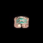 Louxor Ring, Rose gold finish, Light Pink / Turquoise image number 2