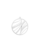 Pendentif Vibrations Rond 45 mm, Finition Argentée image number 1