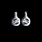 Boucles d'oreilles Dormeuses Vibrations, Finition argentée, Sun / Marine image number 2