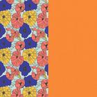 Cuir - Manchettes et Sacs, Fleurs Multicouleurs / Abricot image number 1