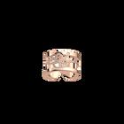 Bague Pétales 12 mm, Finition dorée rose image number 1
