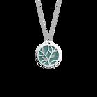 Collier Arbre de Vie, Finition argentée, Bleu Minéral / Argile Rose image number 2