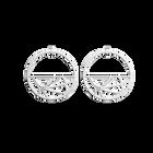 Boucles d'oreilles Fleurs du Nil, Créoles 43 mm, Finition argentée image number 1