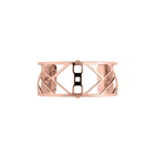 Manchette Promenade 25 mm, Finition dorée rose image number 1