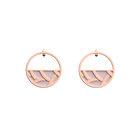 Tresse Small Hoop Earrings, Rose gold finish, Soft Pink / Petrol Green image number 1