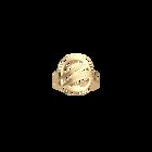 Bague Ronde Vibrations 16 mm, Finition dorée image number 1