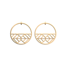 Faucon Hoop 43 mm Earrings, Gold finish image number 1