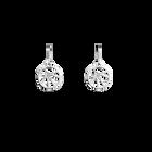 Fleurs du Nil Sleeper 16 mm Earrings, Silver finish image number 1