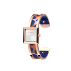 Structure Watch, Rose Gold finish, Giraffe / Patent Blue image number 1