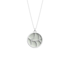 Courbe Necklace, Silver finish, Indigo / Eggshell image number 2