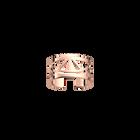 Bague Talisman 12 mm, finition dorée rose image number 1