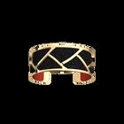 Tresse Bracelet, Gold finish, Red / Black Glitter image number 3