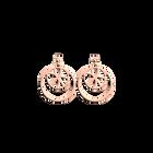 Boucles d'Oreilles Nénuphar, Double Rond 16 mm, Finition dorée rose image number 1