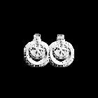 Boucles d'Oreilles Nénuphar, Double Rond 16 mm, Finition argentée image number 1