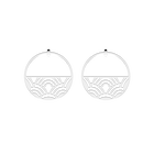 Poisson Hoop 43 mm Earrings, Silver finish image number 1