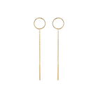 Lina Earrings, Gold finish image number 1
