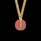 Collier Martelle, Finition dorée, Rayures / Argile Rose image number 3